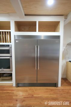 frigidaire-fridge-and-freezer: looks like a 10,000 dollar set, but was only 3,000 from Home Depot!