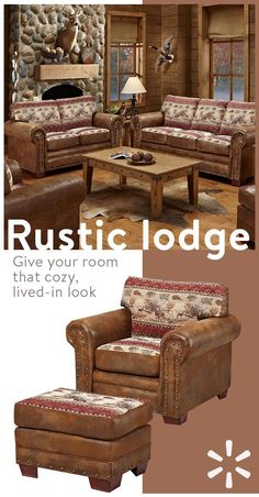 Give your home some old rustic charm and comfort with must-have furniture from the Rustic Lodge collection at Walmart.com. Boasting everything from cozy blanketsand pillows to sofas, storage and more—you'll find everything you need to bring the outdoors in. Shop the look today.