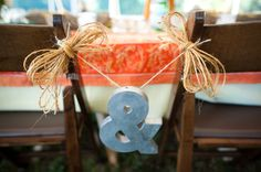 Chair decoration for bride & groom