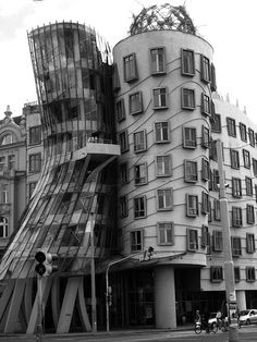 """""""Dancing House"""" in Prague...only a couple blocks away from my hostel this summer :)"""