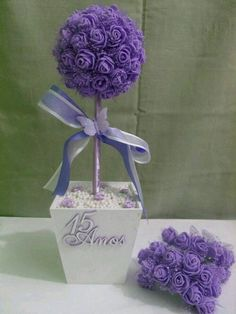 Birthday Table Centerpieces Ideas Tissue Paper 67 Ideas For 2019 Quinceanera Centerpieces, Party Centerpieces, Crepe Paper Flowers, Fabric Flowers, Birthday Table, Birthday Parties, Flower Ball, Flower Crafts, Diy Party
