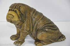 Shar Pei Sculpture Carved from Fossilized Ivory | Mastodon Tusk