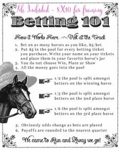 Need to print somethi g like this! Kentucky Derby Party Printable Betting Sheets by CreationsbyDeven Kentucky Derby Betting, Kentucky Derby Party Ideas, Kentucky Derby Fundraiser, Derby Games, Derby Horse, Run For The Roses, Race Party, Derby Day, Party Printables