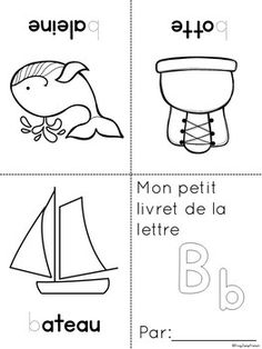 by Frog Jump French French Worksheets, Letter Worksheets, Preschool Worksheets, French Teacher, Teaching French, French Alphabet, French Immersion, France, Booklet