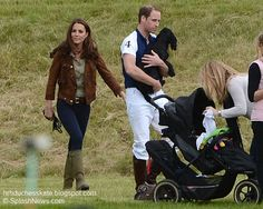 Kate and Lupo watching Prince William playing Polo at The Beaufort Polo Club , Westonbirt