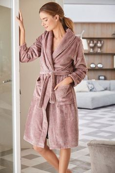Buy Mink Textured Dressing Gown from the Next UK online shop bd486ae48