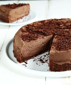 Gluten Free No Bake Chocolate Cheesecake | Gluten Free on a Shoestring