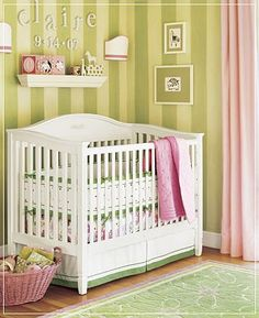 Is This G S Idea For The Baby Room Mixing Green And Yellow Stripes Pink