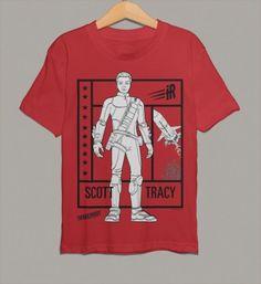 Scott Tracy, pilot of Thunderbird 1 on this customisable kids Thunderbirds Are Go t-shirt.