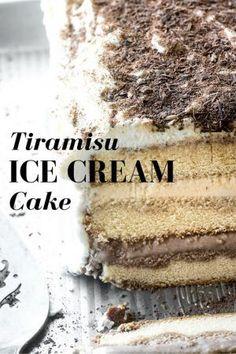 No Bake Tiramisu Ice Cream Cake is an adult version of everybody's summer favorite!