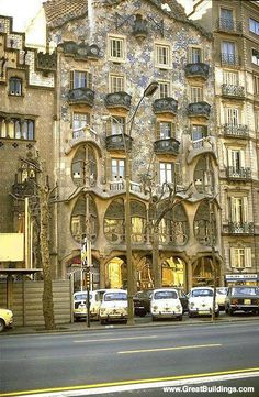 Antonio Gaudi - Apartment building in Barcelona, Spain Casa Batllo 1905-1907
