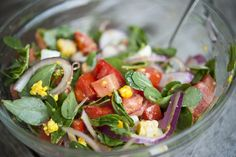 Purslane Salad! great source of omega-3's and so tasty.