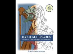 Inside Musical Dragons Coloring Book