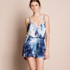 Tie Dye Strappy Romper Tie dye Strappy romper with an elastic waist. Please allow for some color variation as each piece is individually dyed. Brand new. NO TRADES. Bare Anthology Pants Jumpsuits & Rompers
