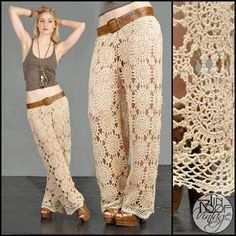 Crochet Skirts Crochet patterns: Free Crochet Charts for Spectacular Summer Pants. Wonder if i could adapt to shorts or a skirt Crochet Skirts, Crochet Clothes, Knitted Skirt, Mode Crochet, Knit Crochet, Crochet Style, Crochet Motif, Crochet Bikini, Crochet Designs