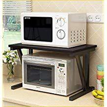 Raumeyun 2 Tier Microwave Stand Wooden Storage Rack Kitchen Wooden Shelving Microwave Ove Encimeras De Cocina Soporte De Microondas Organizar Cocinas Pequenas