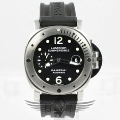 #Panerai #PAM24 #Luminor #Submersible 44mm Steel Case Black Dial Small Seconds Date Window Automatic Dive Watch PAM00024 #OCWatchCompany #WatchStore #WalnutCreek
