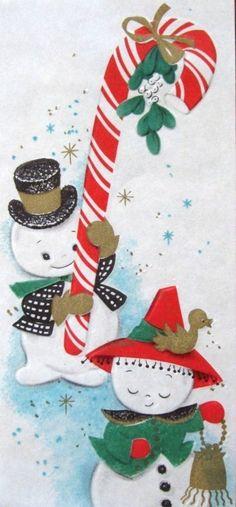 1966 Snowman Card