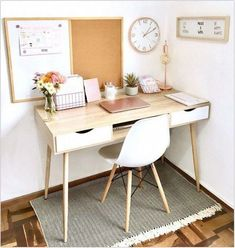 Home Office Space, Home Office Design, Home Office Decor, Office Ideas, Home Office Bedroom, Office Designs, Teen Bedroom Desk, Bedroom Workspace, Design Offices