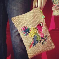 Parrot clutch bag - love it!! - Accessorize