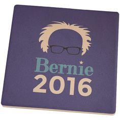 Election 2016 Bernie Sanders Minimalist Set of 4 Square Sandstone Coasters