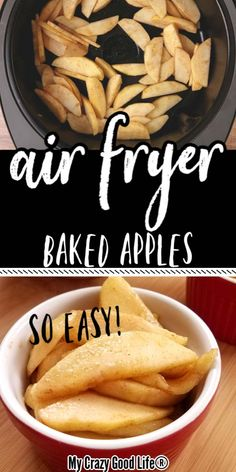 These spiced apples in the air fryer are a delicious healthy dessert recipe! Air fryer desserts are delicious and easy, and these are perfect for 21 Day Fix and Weight Watchers–just one point per serving! Air Fryer Recipes Dessert, Air Fryer Oven Recipes, Air Frier Recipes, Healthy Dessert Recipes, Air Fryer Recipes Vegetarian, Healthy Brunch, Ww Desserts, Diabetic Snacks, Apple Recipes Easy