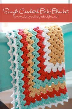 Simple Crochet Baby Blanket