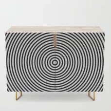 Ever Decreasing Circles Credenza by - Gold - Birch Office Cabinets, Credenza, Cleaning Wipes, Curves, Storage, Birch, Stuff To Buy, Furniture, Gold