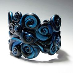 Polymer clay cuff bracelet!
