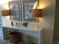 Ann Leddy Interior Design, Inc. Foyer With IKEA Malm Occasional Table, Home  Goods