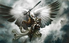 Page 4 of 5 - Who or What inspires YOUR Warrior? - posted in Warrior: valkyries/vikings/etc. Yes, my warrior is a norn. Fantasy Warrior, Angel Warrior, Fantasy Kunst, Fantasy Art, Dark Fantasy, Fantasy Sword, Archangel Michael, Angels And Demons, Dark Angels