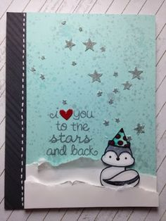 Lawn Fawn - Into the Woods, Lucky Stars, Hats Off to You _ sweet winter birthday card by Terri! _ Paper Crafting Sunshine: Winter Birthday Card