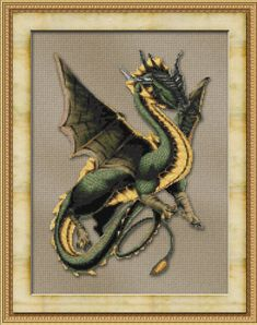 Counted Cross Stitch Pattern Friendly Dragon Fantasy Mythical Design - INSTANT DOWNLOAD PDF - StitchX