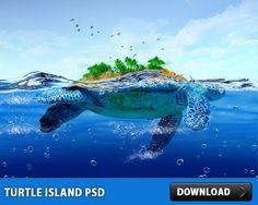 Turtle Island Tutorial PSD