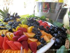 Fruit on platter.jpg How to make a fruit platter