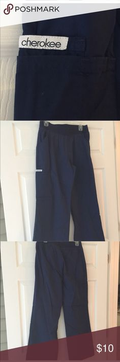 Cherokee navy blue scrub pants Cherokee navy blue scrub pants. Size medium. Cherokee Other
