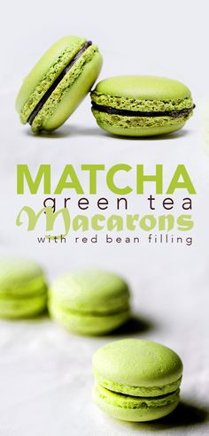 Matcha green tea and Adzuki bean paste go together like peanut butter and jelly, which is why we have decided to combine these two flavors into delicious macarons! Check out the recipe at www.marimatcha.com/the-matcha-blog ! #Matcha #matchagreentea #greentea #tea #teatime #recipe #recipes #dessert #macarons #redbean #adzuki #japanese #marimatchatea
