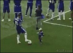 """Share this """"A soccer player trolls a kid"""" animated gif image with everyone. Gif4Share is best source of Funny GIFs, Cats GIFs, Dog GIFs to Share on social networks and chat."""