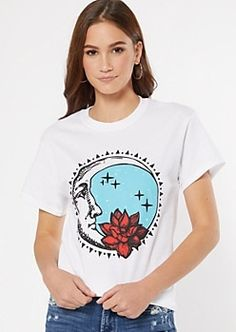 White Lotus Moon Graphic Tee