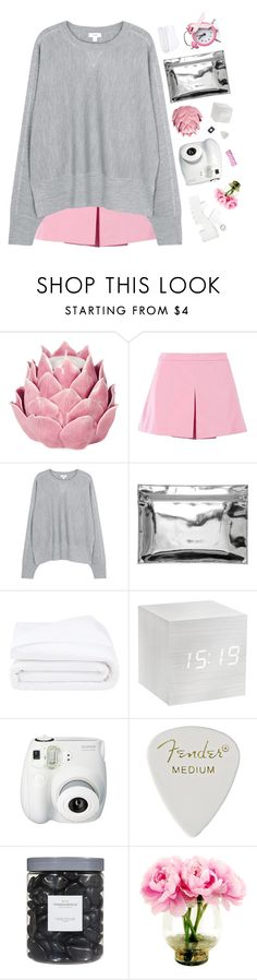 """""""I Wear Pink For...Hope!"""" by pups27 ❤ liked on Polyvore featuring Zara Home, Love Moschino, Vince, Monki, Frette, Fujifilm, Threshold and IWearPinkFor"""