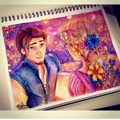 Rapunzel & Flynn (Drawing by FuckYeahDisneyFanArt @Tumblr) #Tangled