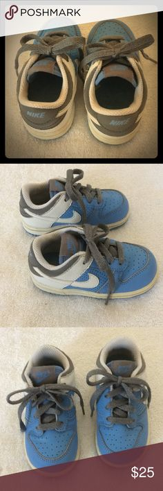 Boys, Baby Blue Nike's, Size 6