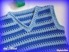 Only stitch diagram available Crochet Baby Sweater Pattern, Baby Sweater Patterns, Crochet Cardigan Pattern, Crochet Granny, Crochet Top, Baby Pullover Muster, Crochet Baby Clothes, Crochet For Boys, Crochet Fashion