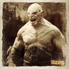 Azog wasn't in the Hobbit as he died in 2799 at the hand of Dáin II Ironfoot during the battle of Azanulbizar. It was his son Bolg that led the attack on Erebor during the first Battle of Dale known as The Battle of the Five Armies. Hobbit Bilbo, Bilbo Baggins, The Hobbit, Azog The Defiler, Fictional World, Fictional Characters, Rings Film, Film Trilogies, Desolation Of Smaug