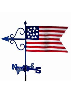 The Patriotic Garden Weather Vane makes the perfect crowning accent to your home. This handcrafted and charming weather vane will add sophistication and intricate style to your home. Created from meta
