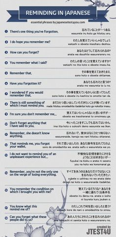 Infographic: how to remind someone in Japanese. http://japanesetest4you.com/infographic-remind-someone-japanese/