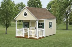 North Country Sheds: Backyard & Schoolhouse Backyard Cabin, Backyard Studio, Backyard Playhouse, Build A Playhouse, Backyard For Kids, Playhouse Ideas, Playhouse Furniture, Pvc Furniture, Homemade Furniture