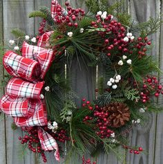 christmas wreath...but maybe with a different ribbon
