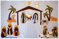 A Felt Nativity Story - includes patterns for all the pieces