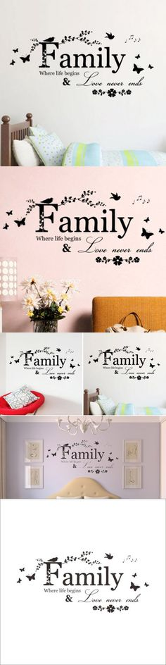 New Quality Natural Family Butterfly Flowers Branch Mural Home Decor Removable Art Wall Sticker Gift Delightful $2.72